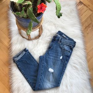 GAP slightly distressed girlfriend jeans